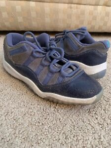 8cc57e42c81 NIKE AIR JORDAN 11 XI RETRO LOW SHOES BLUE-MOON WHITE (PS) SIZE 3Y ...