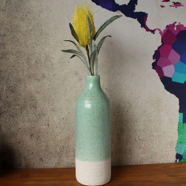 Tall White Green Speckle Ceramic Floor Vase Flower Pot Home Decor Ornament & Tall White \u0026 Green Speckle Ceramic Floor Vase Flower Pot Home Decor ...