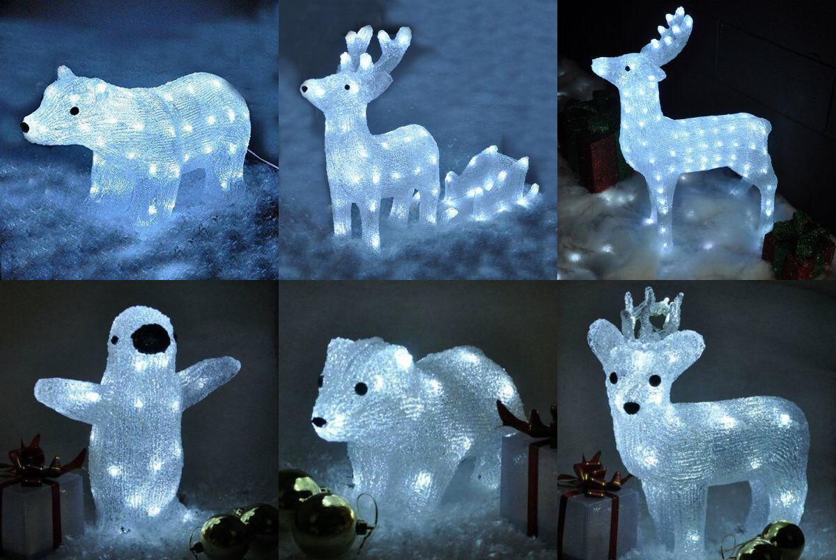 Light Up Crystal Effect Outdoor Indoor Christmas Decoration LED Lights Reindeer