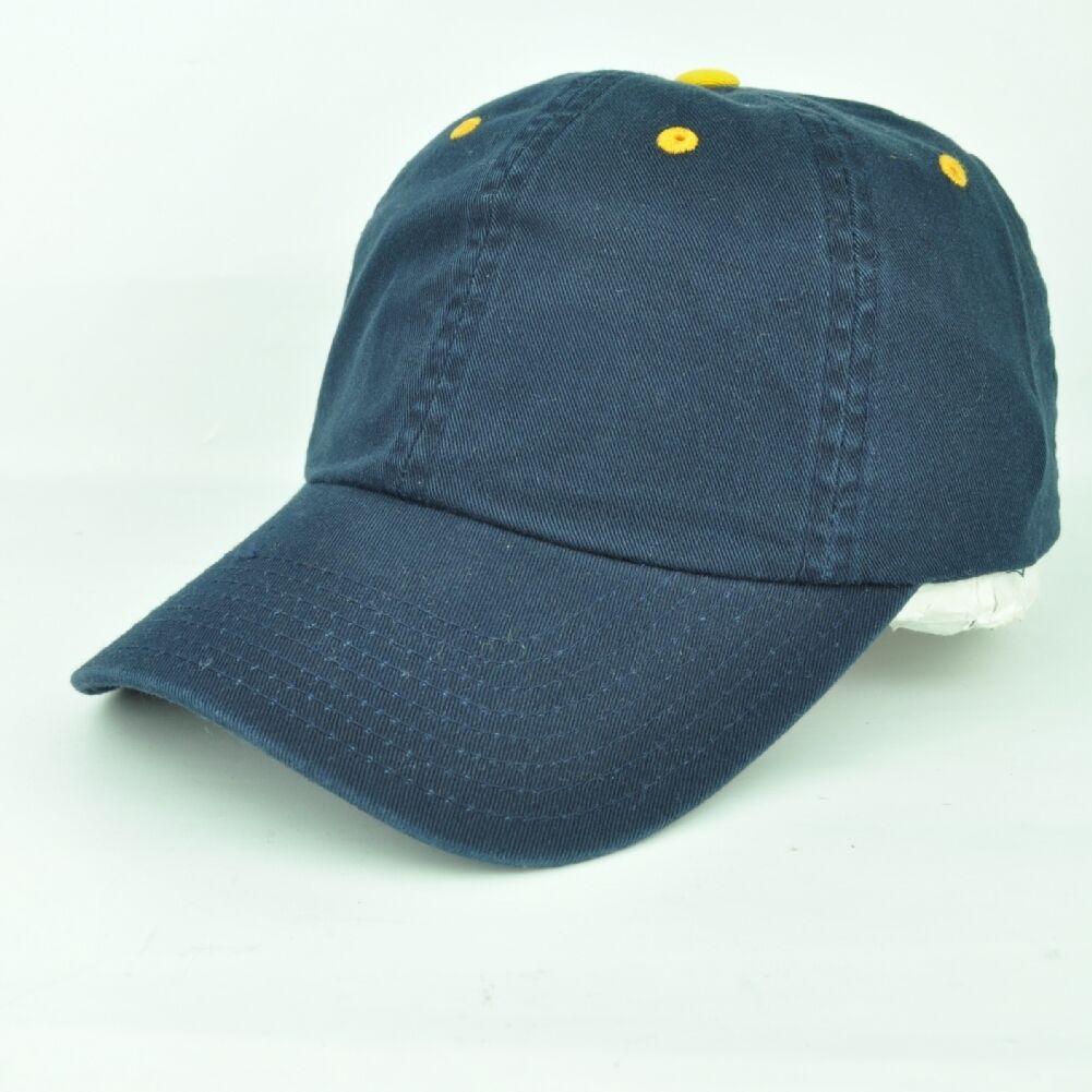 Einfarbig Unbedruckt Gewaschen Damen Marineblau Gold Verstellbar Sun Buckle Hut