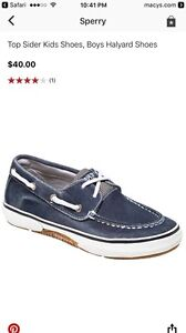 Sperry-Boat-Shoes-boys-Halyard-gently-used-Navy-sz-1-5