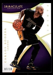 CARLOS BOOZER 7/10 LAKERS GOLD BASE CARD 5 RARE SP 2014-15 Immaculate Collection
