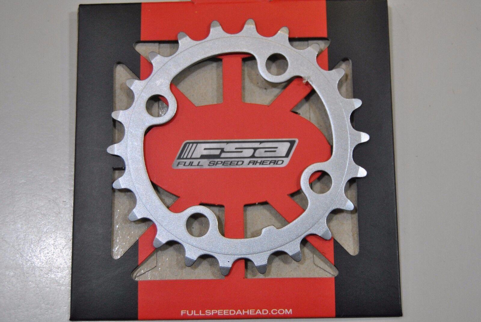 Corona FSA MTB MTB MTB 22T 9s 64mm Acciaio Silver/CHAINRING FSA 22T 64mm 9s STEEL SILVER 0407b1