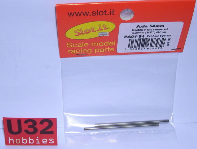 SLOT.IT PA01-54 EJE 54mm PRO CALIBRADO DIAMETRO 2.38mm 2 UNIDADES