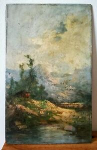 Oil-on-panel-montane-view-late-19-or-early-20eme-35x22-cm