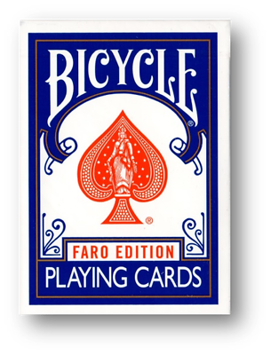 Luminosa Limited Edition Gilded Bicycle Faro (blue) Playing Cards Poker Carte Da Gioco-