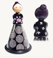 Pylones Black Cheese Grater Vegetable Decoration Figurine Mademoiselle Lady