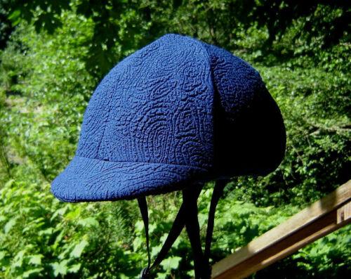 med//large Solid Blue W Soulevées Motif Casque Housse