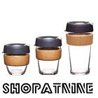KeepCup Keep Cup Glass Coffee Tea Reusable Black/White Cork