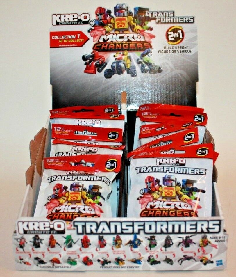 Complete set of 12 KRE-O Transformers Micro Changers SERIES 1 w  Display Box