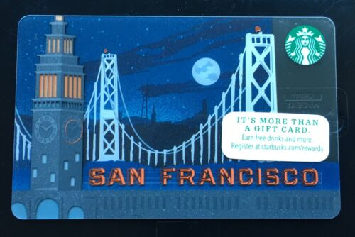 """STARBUCKS City 2014 Gift Card /""""San Francisco/"""" Brand New Not Registered"""
