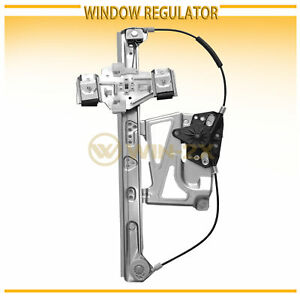 Replacement 4 Pc Set Front and Rear Power Window Regulators without Motors Compatible with 2000-2005 Cadillac DeVille