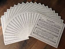 20 piece set of paper with AMAZING GRACE Hymn with Border printed on one side