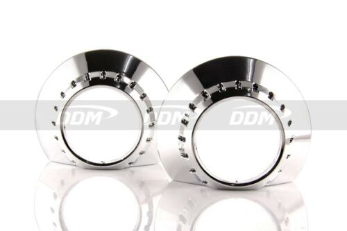 """2pc DDM E46 Regular Style Shrouds,3in w//Centric Rings fit 2.5/"""" /&3/"""" Projector"""