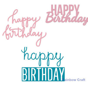 decorative die words happy birthday 4 selections suitable for most