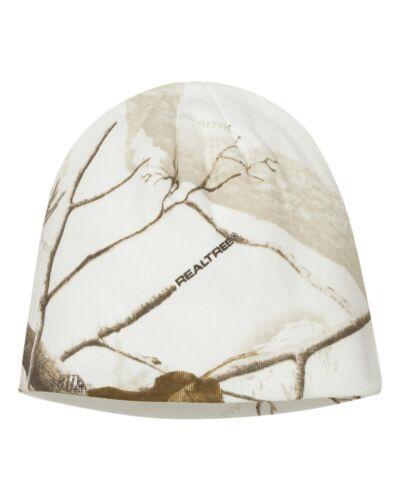 "Kati 8/"" or 12/"" Knit Cap Realtree All Purpose White Snow Camo Beanie Hat LCB08"