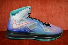 best service 90d33 90ba7 CLEAN Nike Air Max Lebron X 10 Pure Platinum Sneakers Men s Size 11  541100-008
