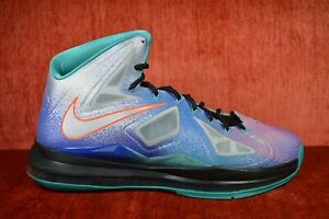 6ddd6d93a4ca CLEAN Nike Air Max Lebron X 10 Pure Platinum Sneakers Men s Size 11 ...
