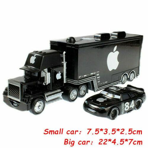 Disney Pixar Cars Mcqueen Jackson Storm Container Truck Model Toy Car Kids Gift