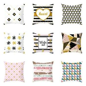 Am-GT-Modern-Geometric-Heart-Pillow-Case-Cushion-Cover-Soft-Cofe-Bed-Home-Deco