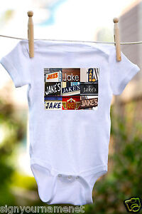 100/% Cotton /& Short Sleeve JAKE Baby Bodysuit in Photo of Signs