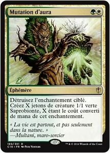 *MRM* FRENCH Aura Mutation Mutation d/'aura MTG magic C16
