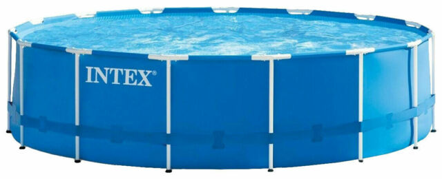 Intex 15ft X 48in Metal Frame Above Ground Pool Set For Sale Online Ebay