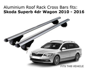 Aluminium Roof Rack Cross Bars Fits Skoda Superb Wagon 2010 2016
