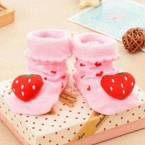 3 Paia Bambino Cotone Anti-scivolo Calze Pantofole Scarpe Neonato Cartone Carino