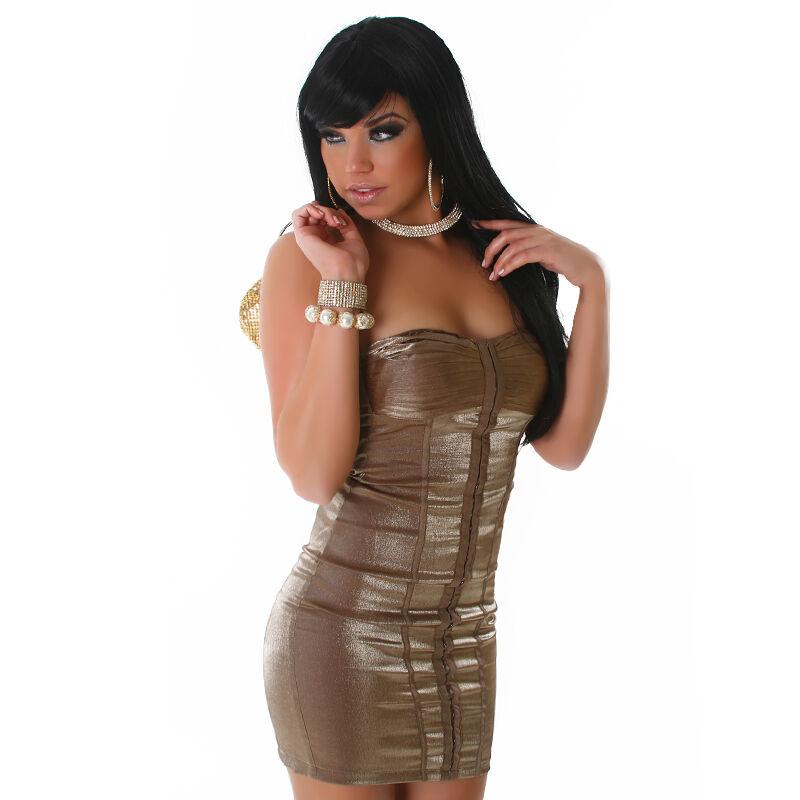 SEXY abito-corsetto taglia S (40 42) elasticizzato zip COPPE imbottite GLAMOUR