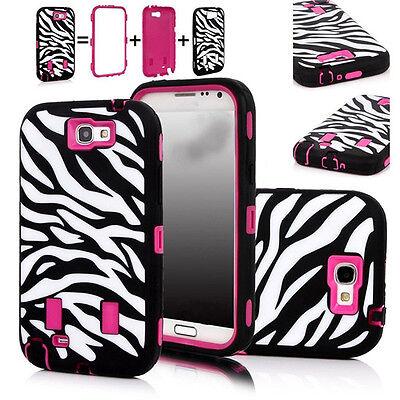 Zebra Hybrid Armor Shockproof Case Cover for Samsung Galaxy Note 2 II N7100