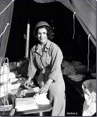 WWII B&W Photo US Army Female Nurse World War Two WW2  Medical Corps / 1118