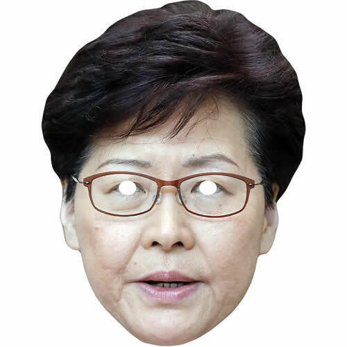 Carrie Lam Hong Kong Chief Celebrity Politician Card Mask Made By Funkybunky**