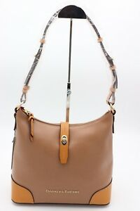 NWT-Dooney-amp-Bourke-Claremont-Tan-Brown-Leather-Hobo-Shoulder-Bag-New