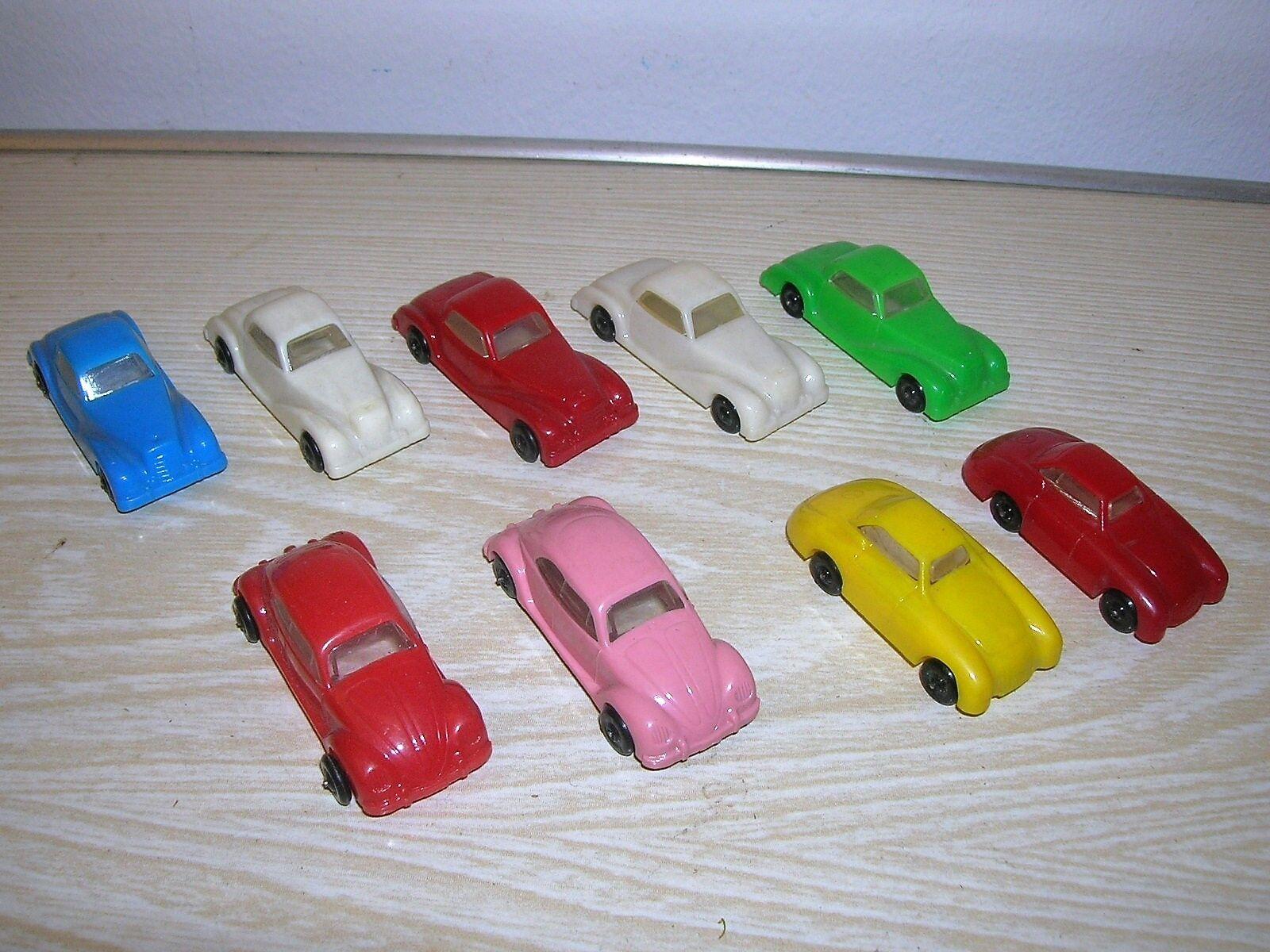 9 pièce ancienne marteau miracle pochettes voitures voitures (vw beetle & MERCEDES) - 50 60er ans