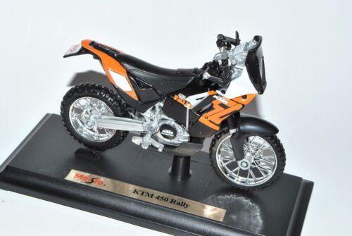 KTM Cycle 450 Rally Enduro Orange 1//18 Maisto Modell Motorrad mit oder ohne in..