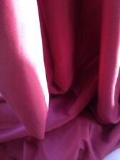 """Vintage Curtain Fabric Raspberry Red Quality Fireproof Soft Dupion 54"""" Wide"""