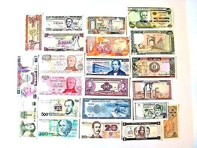 1999 world mixed paper money lot of 6 Bank note 1961-1982