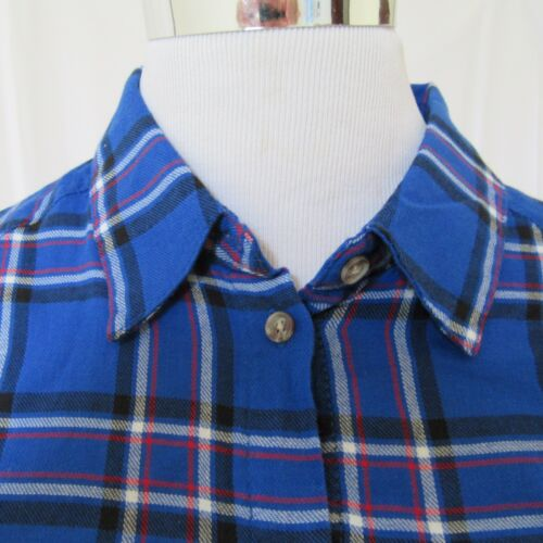 Ambiance Apparel Womens Shirt Top Light Flannel S Long Sleeve Button Down Plaid