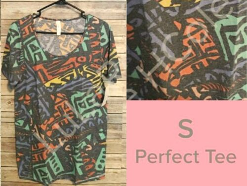 Size Top Lularoe Women's T Tribal Shirt Nwt Heathered Perfect Small Multicolor 5qnpa