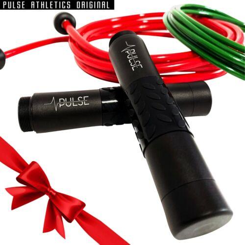 Pulse athlétisme saut corde Ensemble Avec 1//2 lb pondérée de corde et 1//4 lb Vitesse Corde.