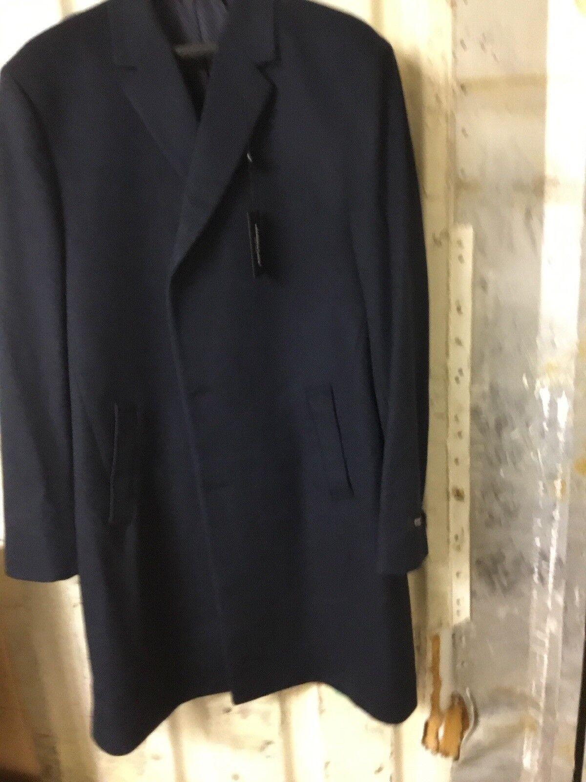 Kenneth Cole REACTION Men's Raburn Wool Top Coat Dark bluee
