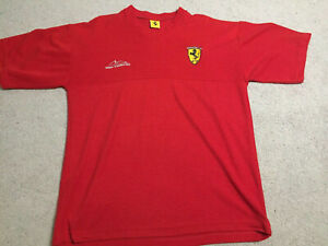Ferrari-Formula-One-Michael-Schumacher-F1-1996-Vintage-Short-Sleeve-Shirt-Red