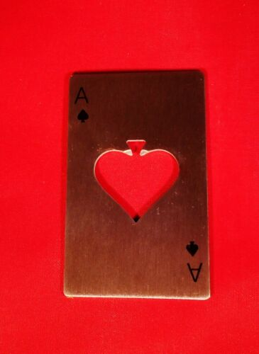 POP BOTTLE OPENER GREAT LITTLE PLAYING CARD STYLE STAINLESS STEEL BEER