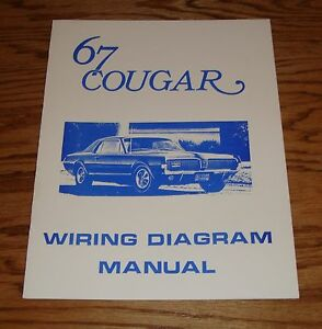 1967 Mercury Cougar Wiring Diagram Manual 67 Ebay