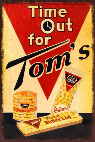 Tom/'s Biscuits and Treats Advert Vintage Retro Style Metal Sign Plaque