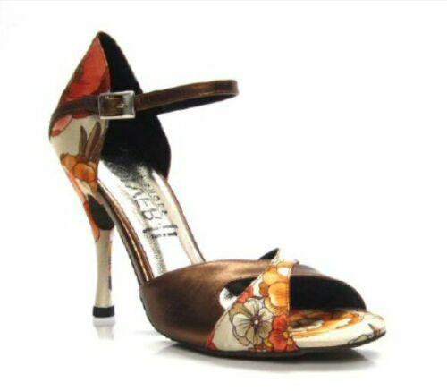 9 cm 7 VOLVER 032 ARGENTINE TANGO DANCE SHOES LEATHER SUEDE SOLES HEEL 5 8