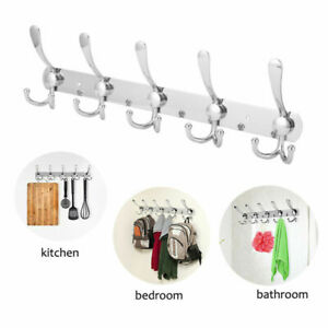 Wall Mounted Coat Hook Rack Stainless