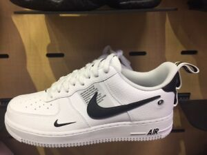 best sneakers 98adf 41441 Details about NIKE AIR FORCE 1 LOW UTILITY AJ7747-100 White Black Sz 5C-13  New TD PS GS & MENS