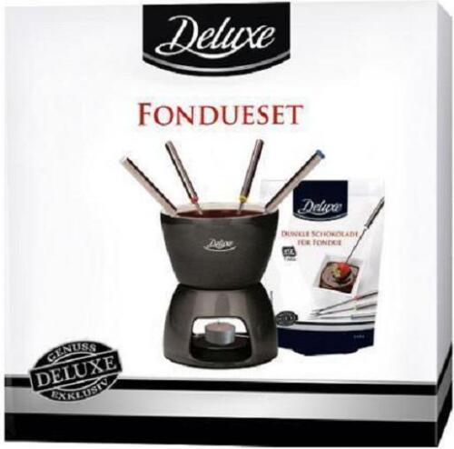 Fondue-Set incl.4 Fondue-Gabeln   Schokoladenfondue Delux Neu OVP